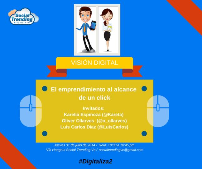Únete a nuestro hashtag  #Digitaliza2 desde ya.
