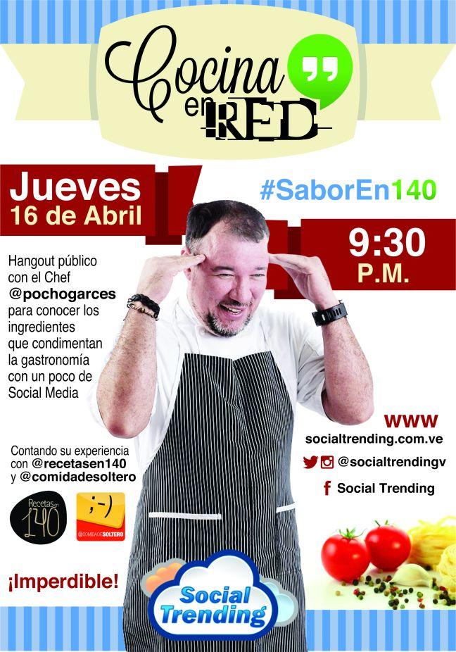 Cartel de Cocina en Red